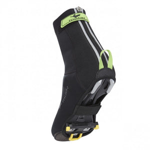 SealSkinz Open Sole Neoprene Cycling Overshoes - Black / Green