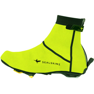 SealSkinz Open Sole Neoprene Cycling Overshoes - Hi Vis Yellow