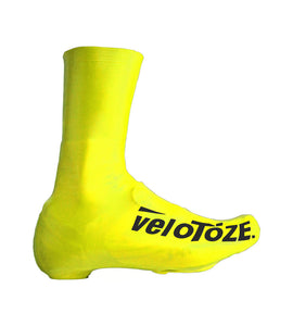 VeloToze Latex Road Bike Shoe Covers - Tall - Yellow