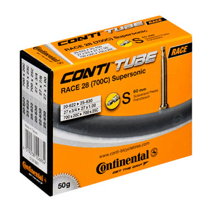 Continental Race 28 Supersonic Road Bike Inner Tube 700c x 20-25 Presta - 60mm