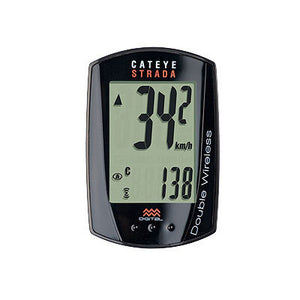 CatEye Strada Digital Wireless Cordless Cycle Bike Computer - Black