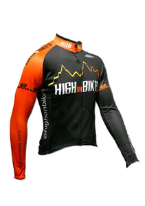 High on Bikes V4 - Long Sleeve Cycling Jersey - Front