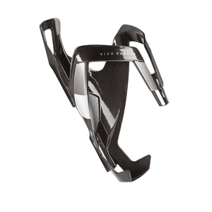 Elite Vico Carbon - Water Bottle Cage - Gloss Black / White