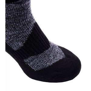 SealSkinz Walking Thin Ankle Socks - Grey / Black