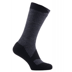 SealSkinz Walking Thin Mid Socks - Grey / Black