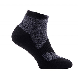 SealSkinz Walking Thin Socklet - Grey / Black