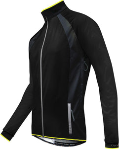 Funkier Soft Shell Windstopper Cycling Jacket - Black