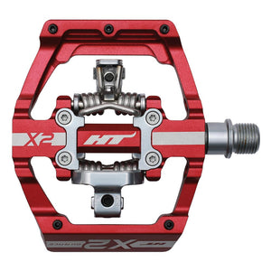 HT Components X2 - DH Clipless Pedals - Red