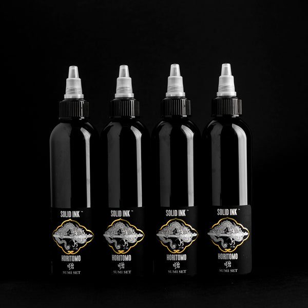 Horitomo Sumi Set | Black, Dark, Medium, Light