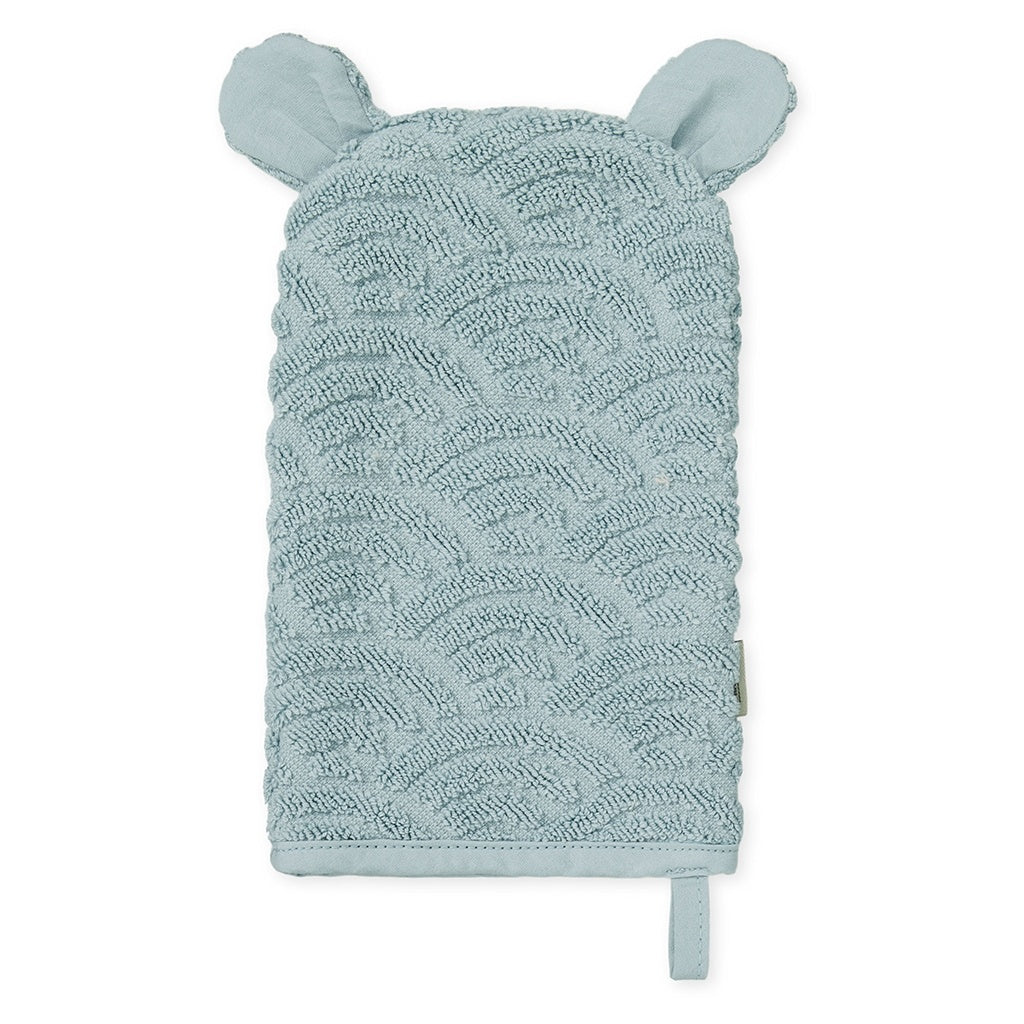 CAM CAM - Organic cotton toilet glove / Petroleum