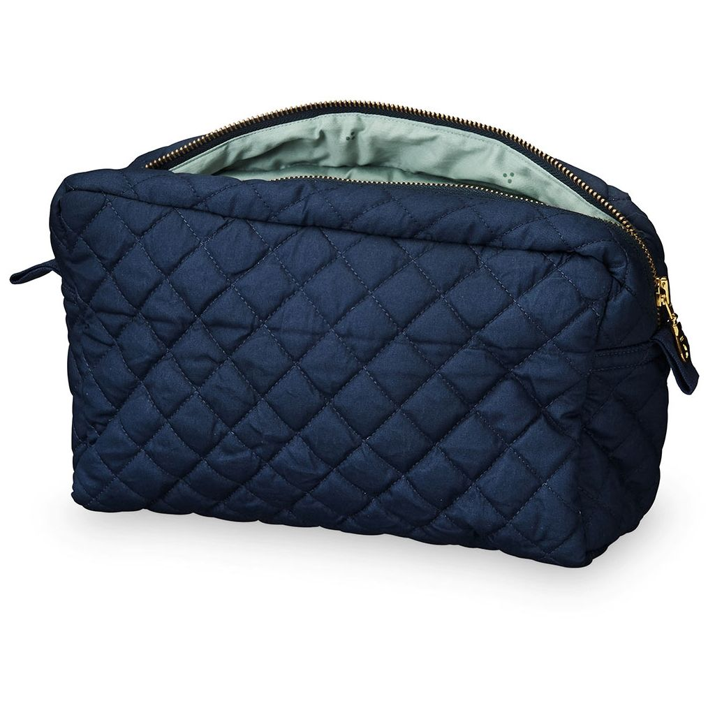CAM CAM - Organic quilted cotton toiletry kit / Marine