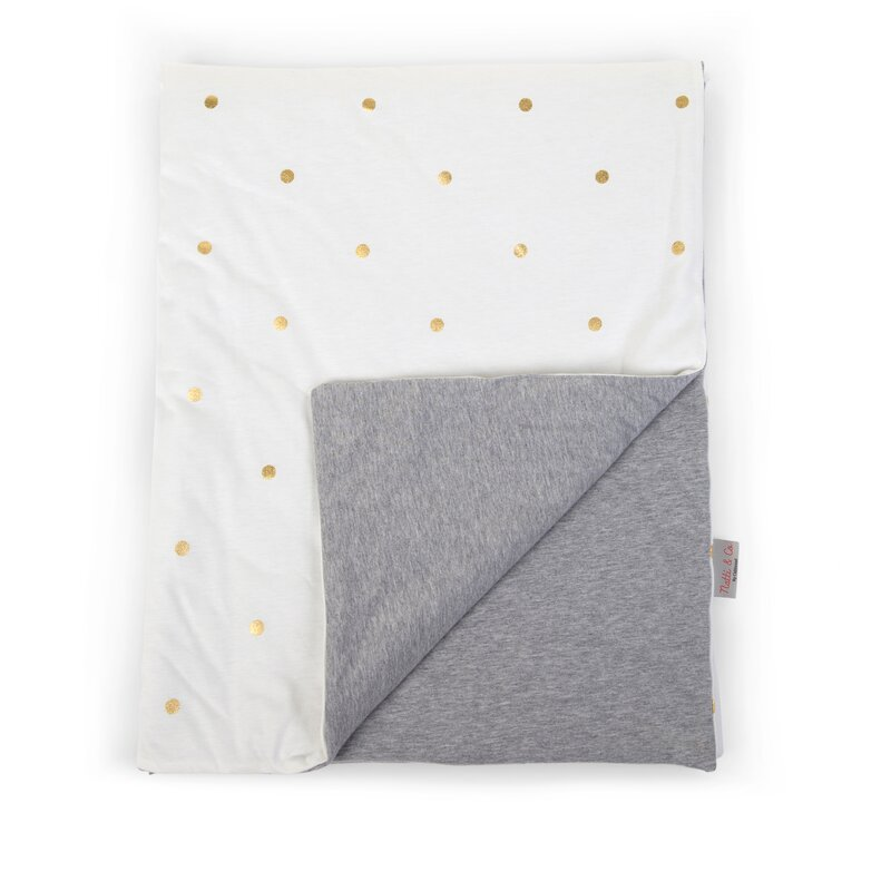 CHILDHOME - Couverture de bébé jersey / Gold Dots