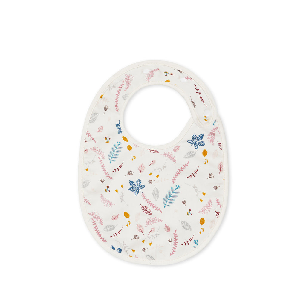 CAM CAM - Organic cotton bib / Pink Leaves