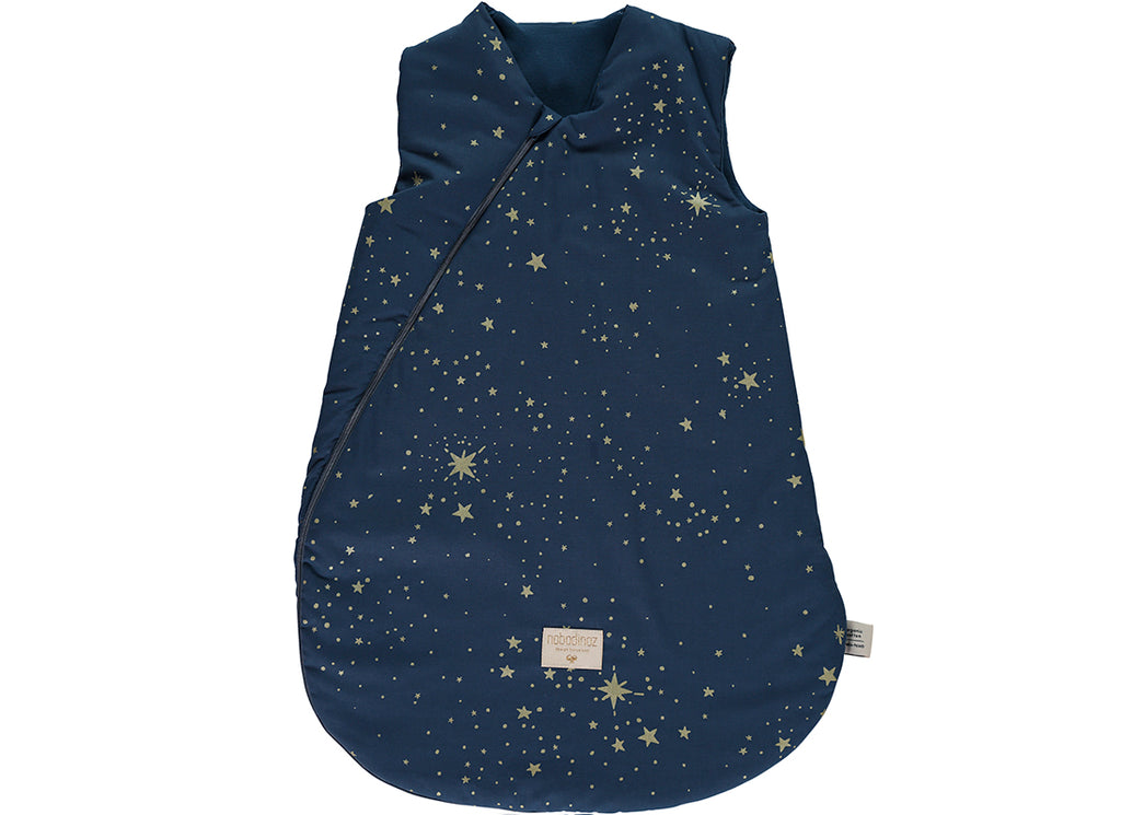 NOBODINOZ: Small Cocoon Gold Stella / Night Blue Baby Sleeping Bag