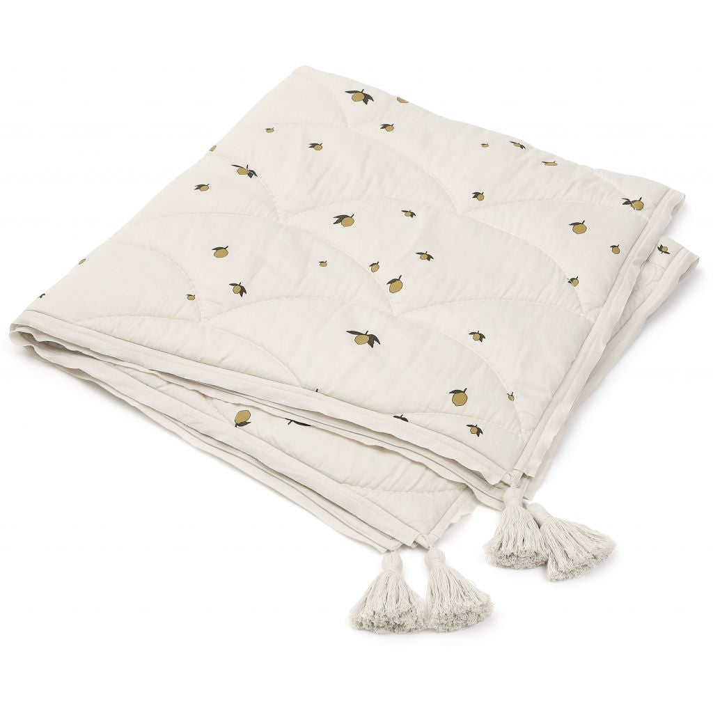 KONGES SLOJD - Quilted organic cotton blanket / Lemon