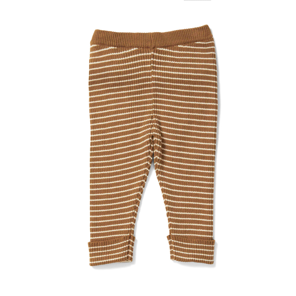 KONGES SLOJD - Pantalon Meo / Dijon / Off White