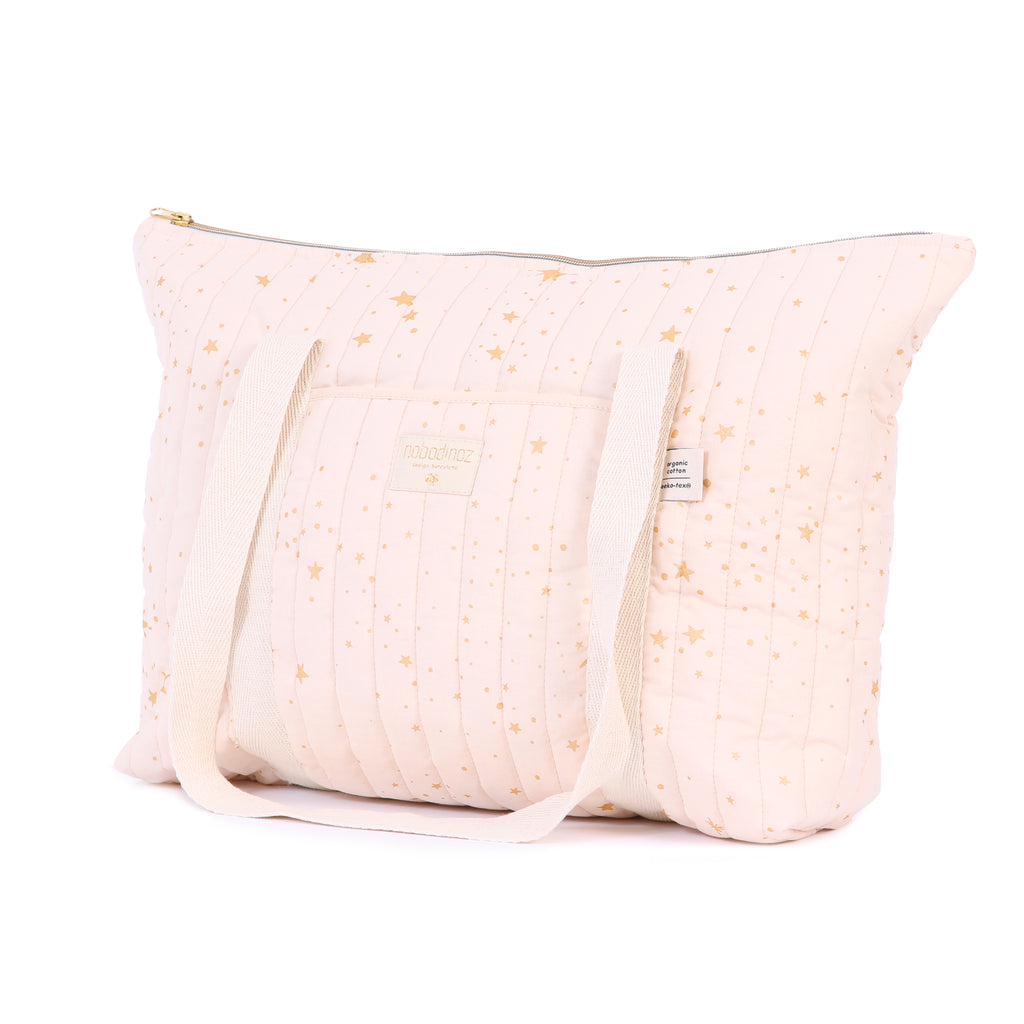 NOBODINOZ - Sac de maternité Paris Gold Stella Dream Pink