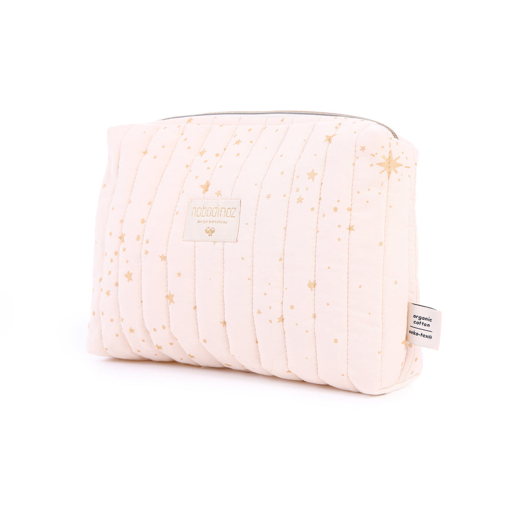 NOBODINOZ - Trousse de toilette Travel Gold Stella / Dream Pink