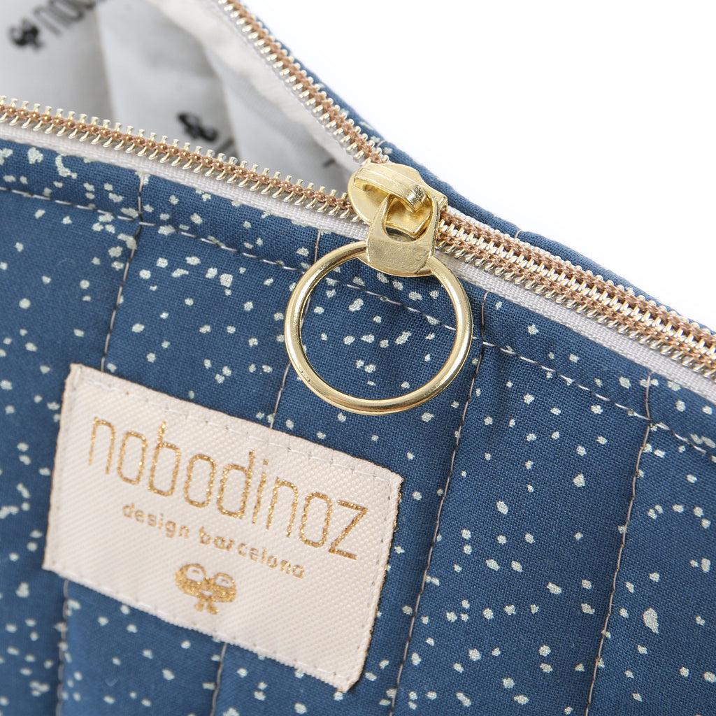 NOBODINOZ - Trousse de toilette Holiday Large Gold Bubble / Night Blue