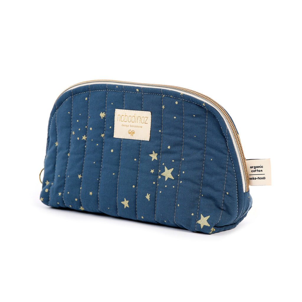 NOBODINOZ - Trousse de toilette Holiday Large Gold Stella / Night Blue