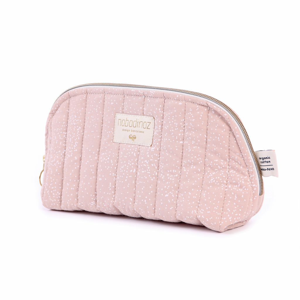 NOBODINOZ - Trousse de toilette Holiday Large White Bubble / Misty Pink