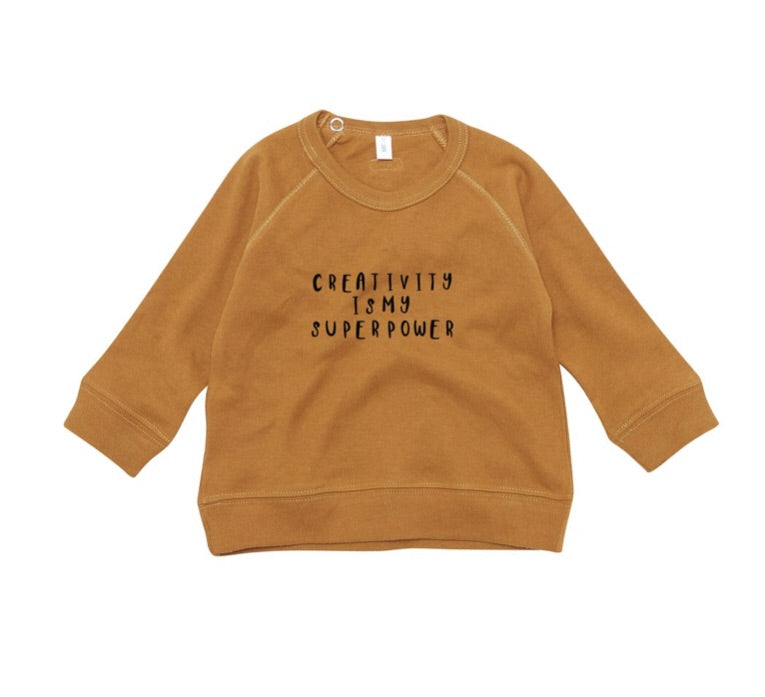 ORGANIC ZOO - sweat-shirt « Créativity  » Spice