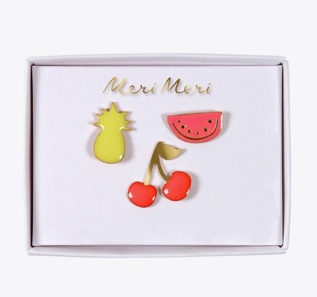 MERI MERI - Set de 3 pins « fruits »