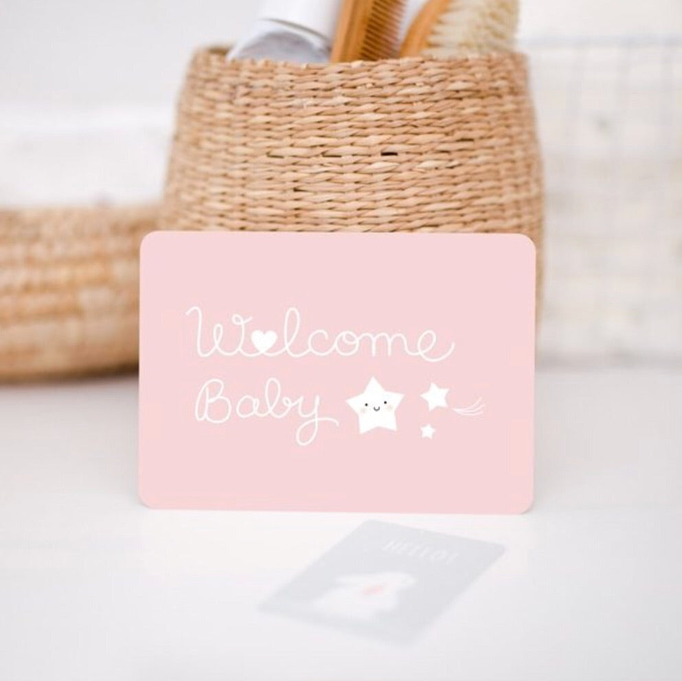 ZÜ - Carte welcome baby - rose