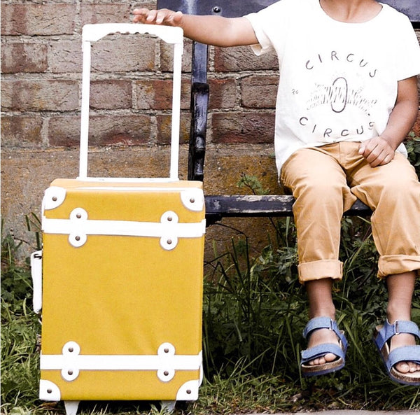 OLLI ELLA - Valise à roulettes See-ya - Moutarde – Mademoiselle Faustine 6fbe13d95d59