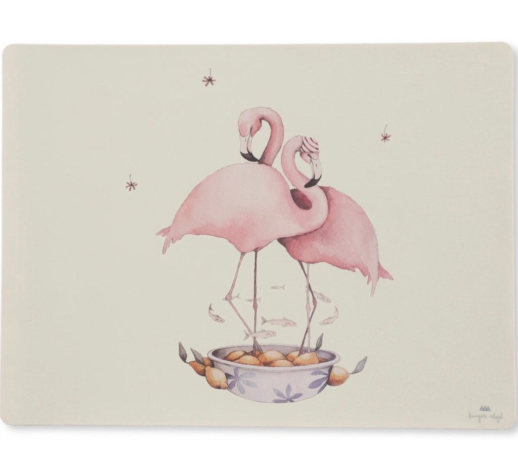 "KONGES SLOJD - Set de table ""Flamant rose"""