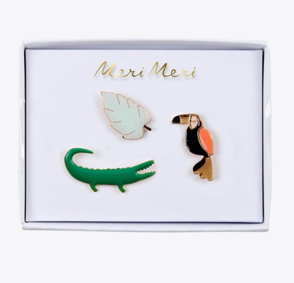 MERI MERI - Set de 3 pins « jungle »
