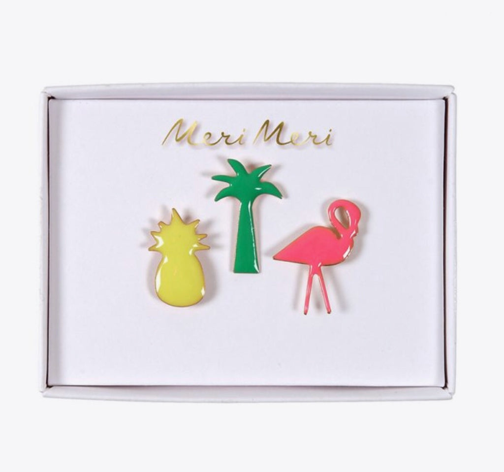 MERI MERI - Set de 3 pins « tropicaux »