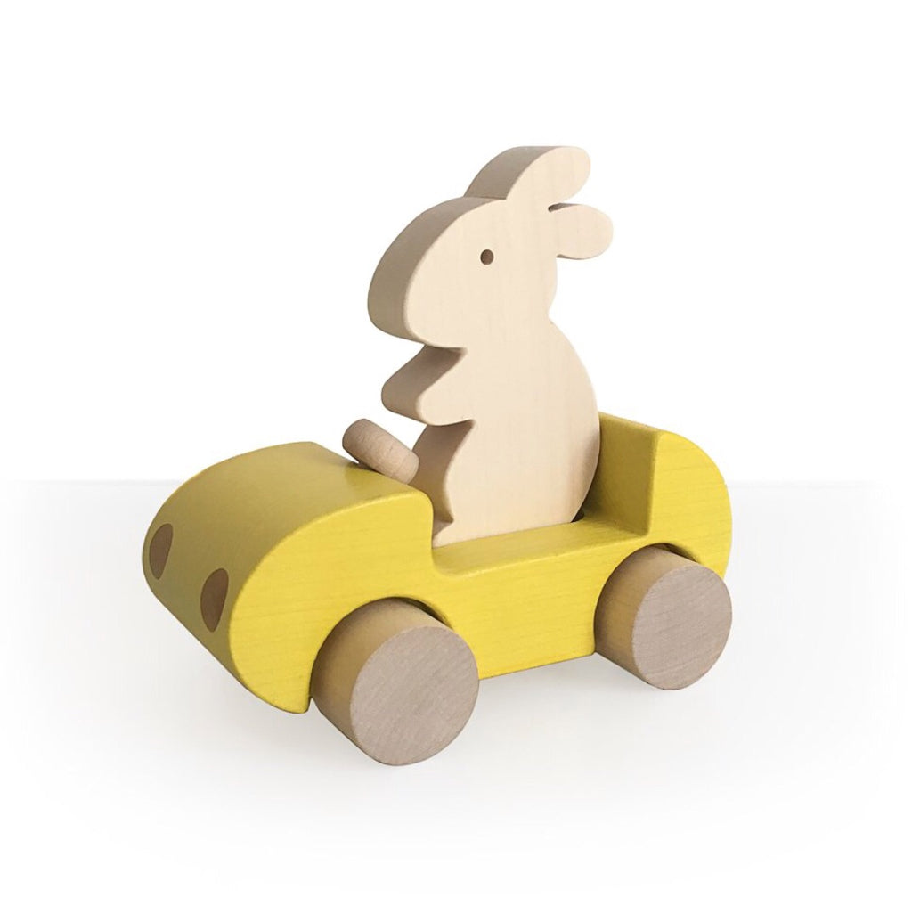 BRIKI VROOM VROOM - Bunny car / Yellow
