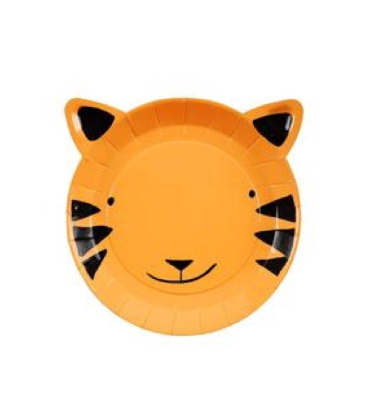MERI MERI - Tiger cardboard plates - Set of 12