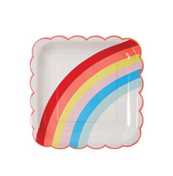 MERI MERI - Rainbow Cardboard Plates - Set of 12