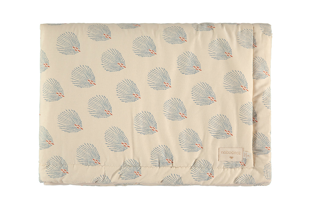 NOBODINOZ - Couverture small Laponia Blue Gatsby / cream