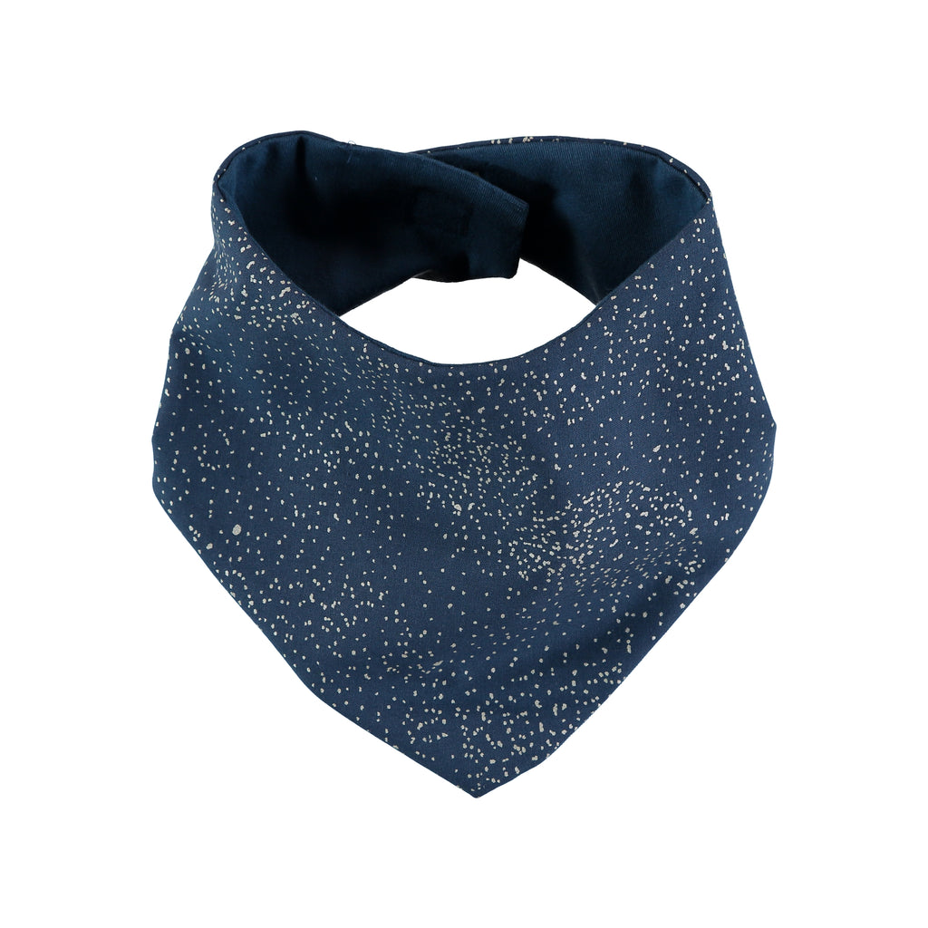 NOBODINOZ - Bavoir Bandana Lucky Gold Bubble / Night Blue