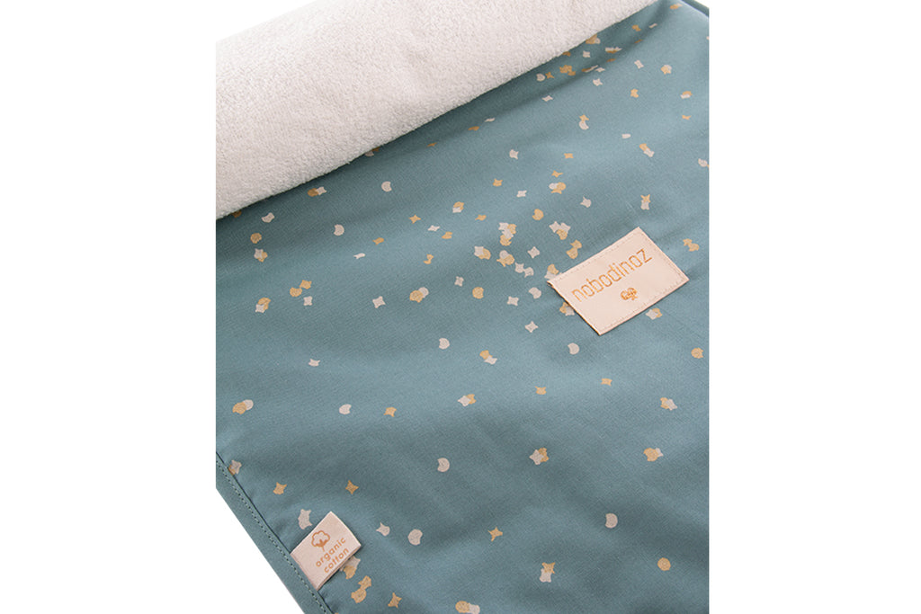 NOBODINOZ - Matelas à langer Nomad Gold Confetti / Magic Green