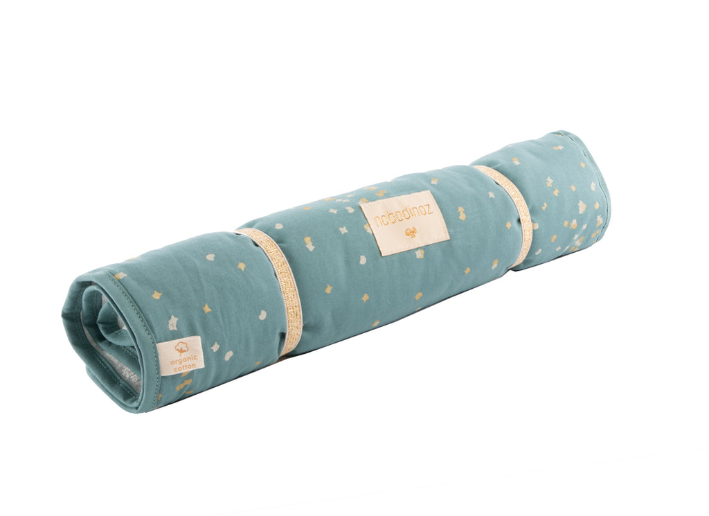 NOBODINOZ-Matelas à langer Nomad Gold Confetti/Magic Green
