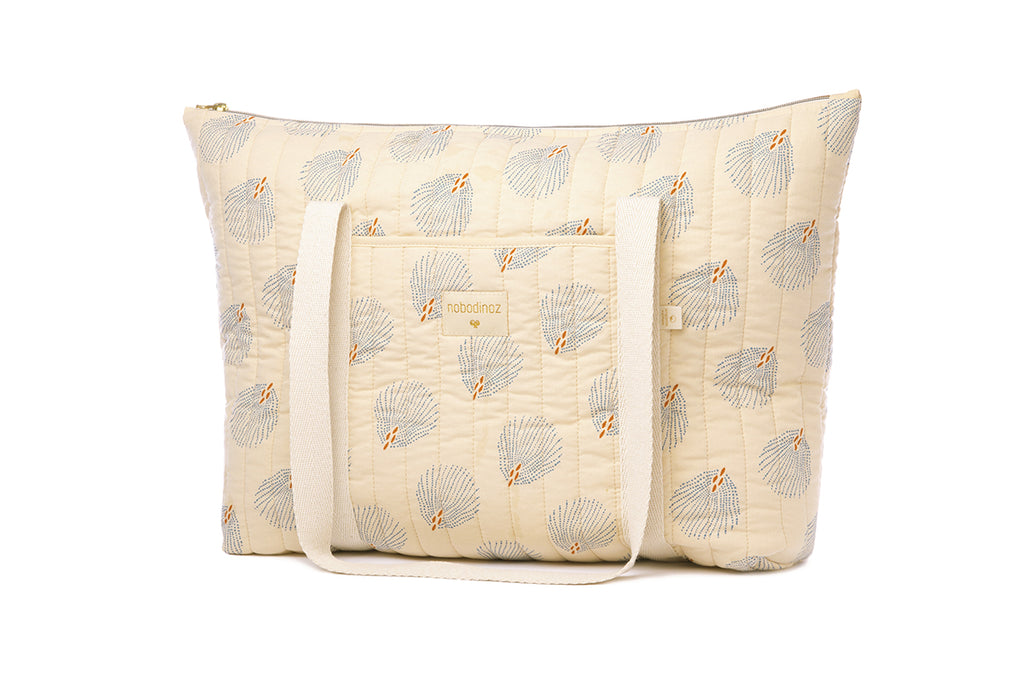 NOBODINOZ - Sac de maternité Paris Blue Gatsby / Cream