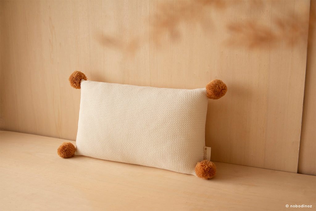 NOBODINOZ - Coussin So Natural en tricot / Milk