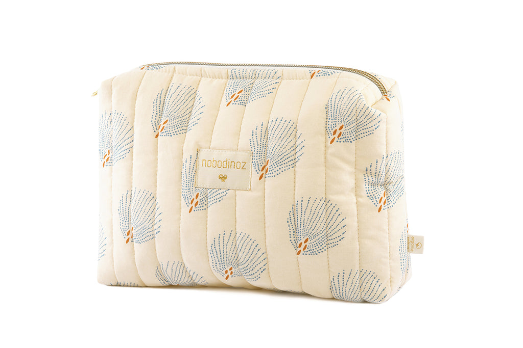 NOBODINOZ - Travel Blue Gatsby / Cream toiletry bag