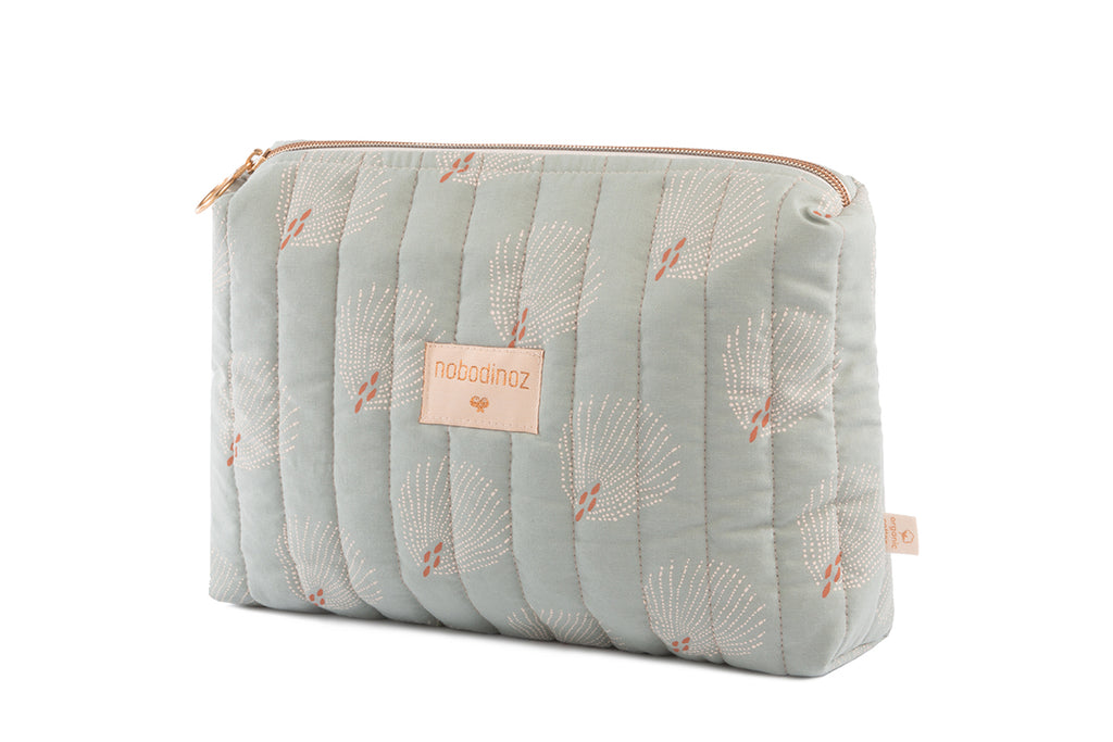 NOBODINOZ - Trousse de toilette Travel White Gatsby / Antique Green