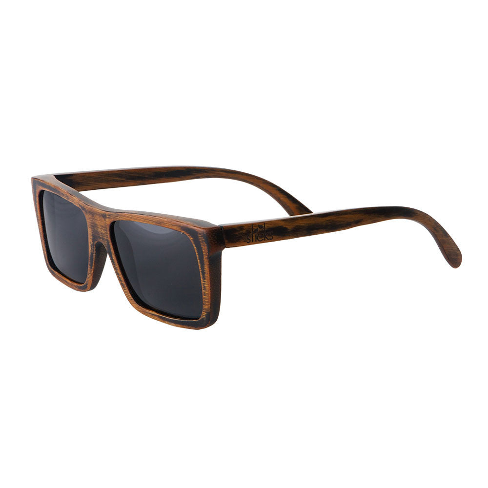 7236ecf8b8 Sticks Vagabonds are handcrafted wooden sunglasses with a dark stain ...