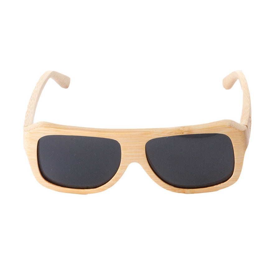 The Traveler style from Sticks Wooden Sunglasses with smoke lenses