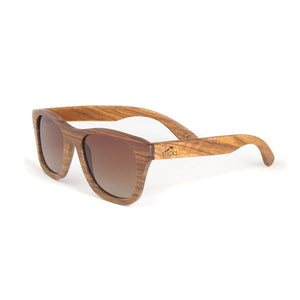 The Nomad style from Sticks Wooden Sunglasses with brown lenses