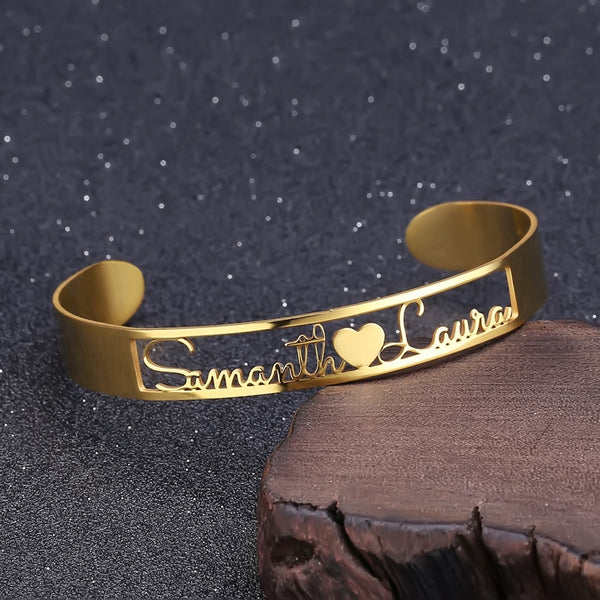 Cutomized Gold  Name Bangle