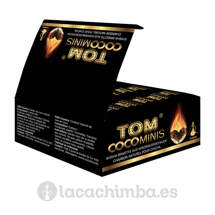 Carbón Tom Cococha Gold Mini caja display (108 pastillas)