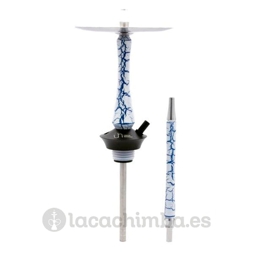 Union Hookah Sleek Crackle (blue on white)