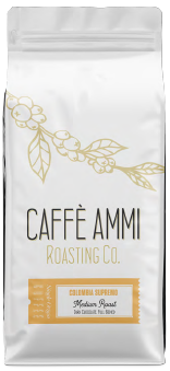 Colombia Supremo<BR> Medium Roast <BR>Dark Chocolate, Full Bodied <BR>5lb